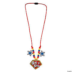 Superhero VBS Beaded Necklace Craft Kit
