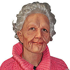 Supersoft Old Woman Mask for Adults