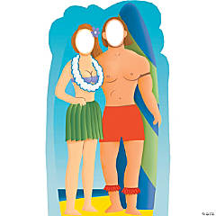 Surfboard Couple Stand-In Stand-Up