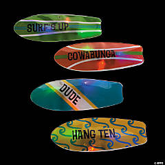 Surfboard Light-Up Sticker Badges