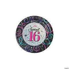 Sweet 16 Celebration Paper Dessert Plates