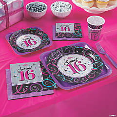 Sweet 16 Celebration Party Supplies