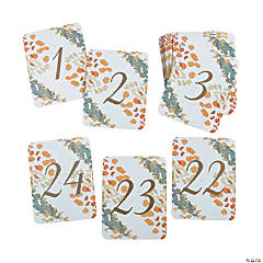 Sweet Fall Table Numbers