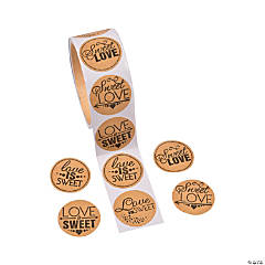 Sweet Love Candy Buffet Stickers