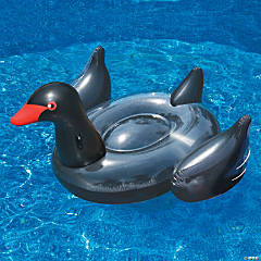 Swimline Inflatable Giant Black Swan Pool Float