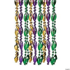 Swirl Mardi Gras Beads