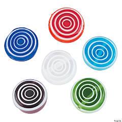 Swirl Millefiori Round Beads