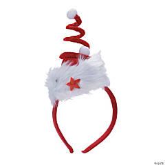 Swirl Santa Hat Headband