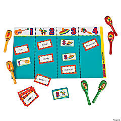 Syllable Mat Game with Maracas