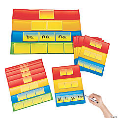 Syllable Practice Dry Erase Sheets