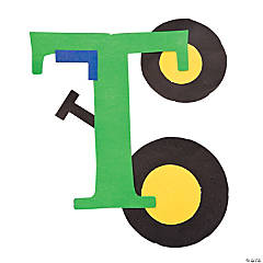 """T Is For Tractors"" Letter T Craft Kit"
