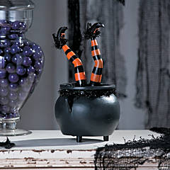Tabletop Kicking Witch Legs Halloween Décor