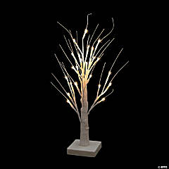 Tabletop White Light-Up Tree