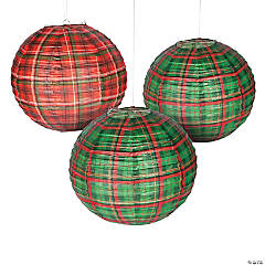 Tartan Plaid Christmas Paper Lanterns