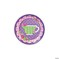 Tea Party Paper Dessert Plates