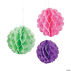 Tea Party Tissue Paper Balls