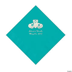 Teal Irish Personalized Napkins - Luncheon