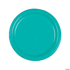 Teal Lagoon Round Dinner Paper Plates