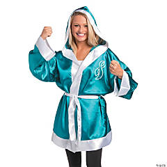 Teal Ribbon Boxing Robe