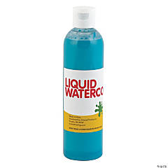 Teal Tropical Color Liquid Watercolor Paint