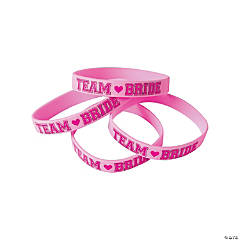 Team Bride Rubber Bracelets
