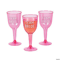 Team Bride Wine Glasses