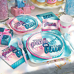 Team Pink & Blue Party Supplies