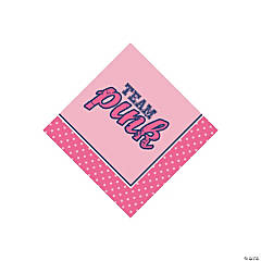 Team Pink/Blue Beverage Napkins