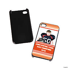 Team Spirit Custom Photo Black iPhone® 4/4S Case - Orange