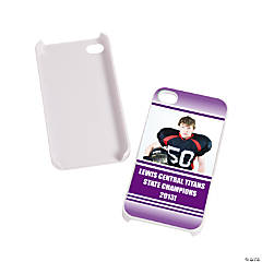 Team Spirit Custom Photo White iPhone® 4/4S Case - Purple