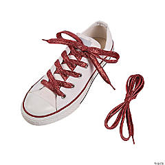 Team Spirit Metallic Red Shoelaces