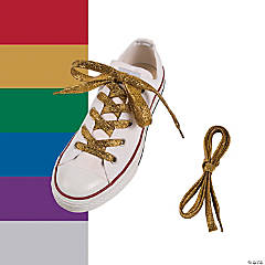 Team Spirit Metallic Shoelaces