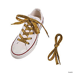 Team Spirit Metallic Yellow Shoelaces