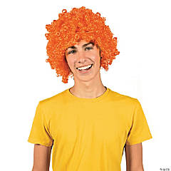 Team Spirit Orange Afro Wig