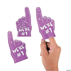 Team Spirit Purple Mini Foam Fingers