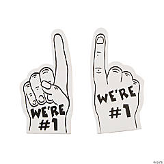 Team Spirit White Mini Foam Fingers