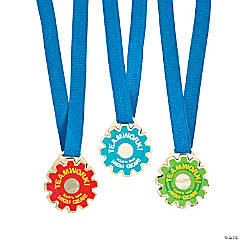 Teamwork Gear-Shaped Award Medals