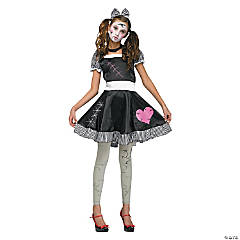 Teen Girl's Broken Doll Costume