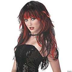 Tempting Tresses Red & Black Wig