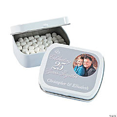 25th Anniversary Custom Photo Mint Tins
