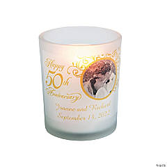 50th Anniversary Custom Photo Votive Holders