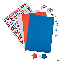 4th of July Self-Adhesive Shapes