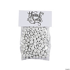 Thank You Cellophane Treat Bags with Topper