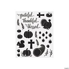 Thankful Blessed Mason Jar Decals