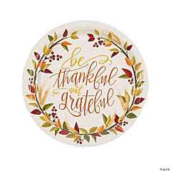 Thankful Paper Dinner Plates