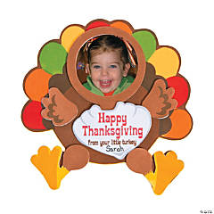 Thanksgiving Turkey Picture Frame Magnet Craft Kit