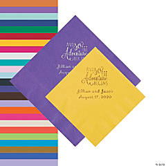 The Adventure Begins Personalized Napkins - Beverage or Luncheon