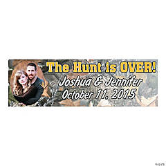 """The Hunt Is Over!"" Medium Custom Photo Banner"