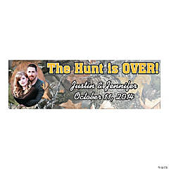 """The Hunt Is Over!"" Small Custom Photo Banner"