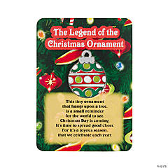 """The Legend of the Christmas Ornament"" Pins on Cards"